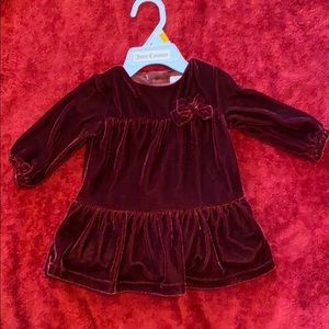 Carter's burgundy dress size 3 months